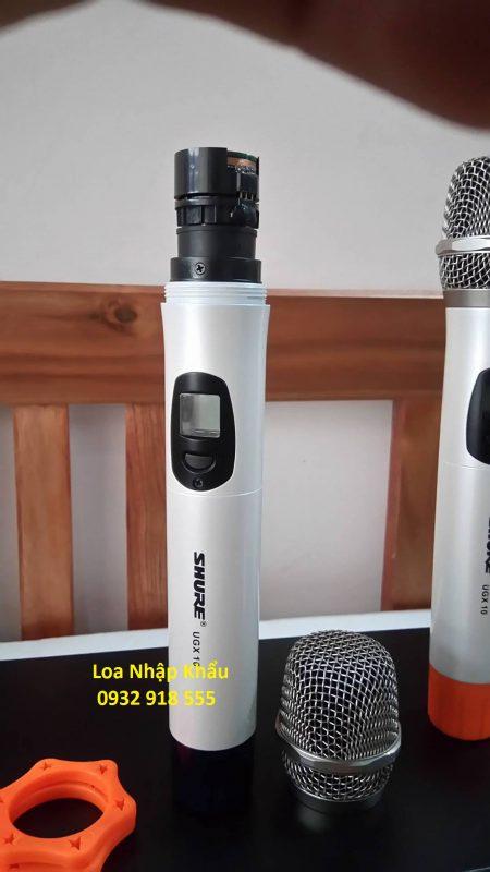 Micro shure UGX10 nhap khau