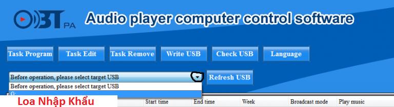 Su dung bo amply hen gio OBT 9300 USB