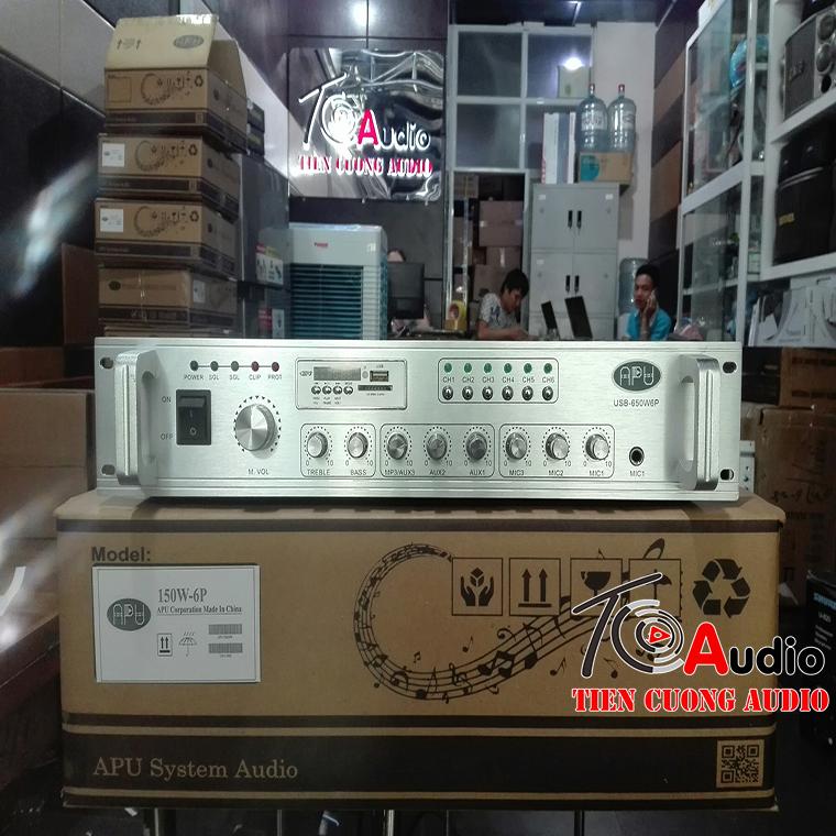 Mẫu Amply APU 150W được dùng nhiều nhất trong hệ thống âm thanh phòng họp