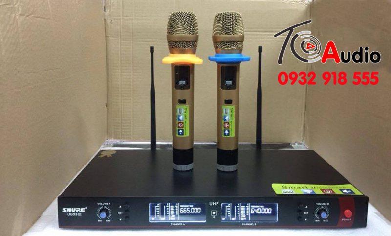 Micro shure UGX9 III chat am thanh hay