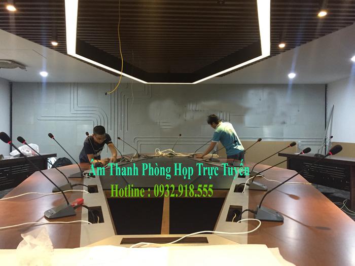 Tiến Cường thi công lắp đặt hệ thống âm thanh phòng họp trực tuyến chuyên nghiệp tại Hà Nội
