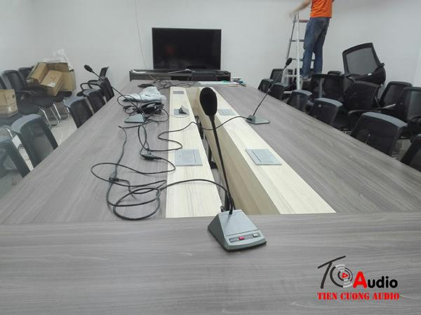 Lắp đặt hệ thống micro hội nghị trực tuyến