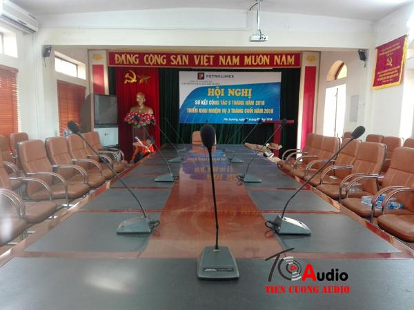 Dự án âm thanh hội thảo, micro hội thảo APU tại Hải Dương công ty xăng dầu Petrolimex