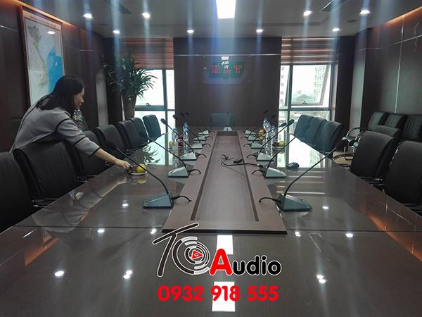 Lắp đặt âm thanh hội thảo, micro hội thảo cho công ty Hà Anh tại Hà Nội
