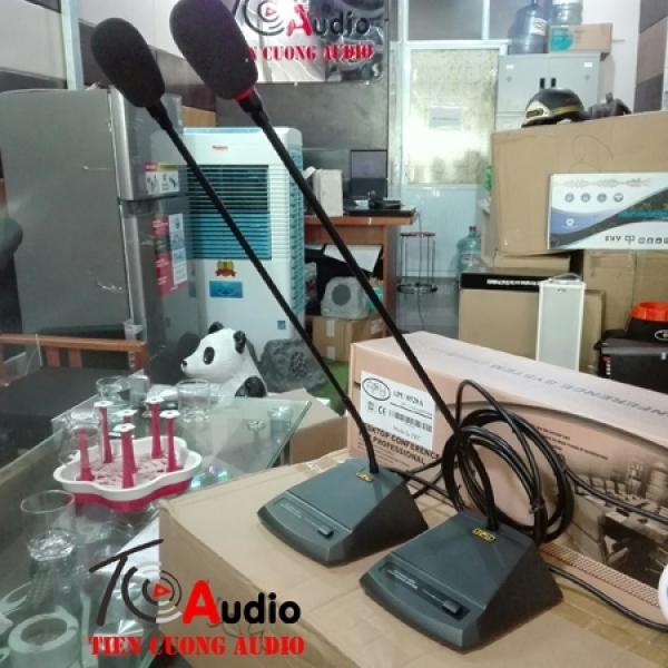 Micro đại biểu APU 8520B hút âm tốt, âm thanh rõ ràng, dễ nghe