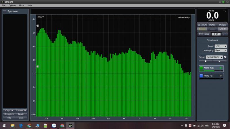 Hình ảnh phần mềm đo âm thanh chuyên nghiệp chỉnh dải tần số micro gây hú rít