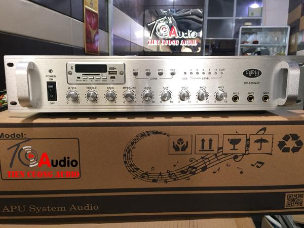 Amply APU CV 120W4P chia 4 vùng âm thanh riêng biệt