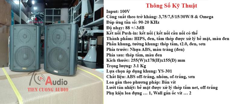 Thông số kỹ thuật của loa hộp APU SP30