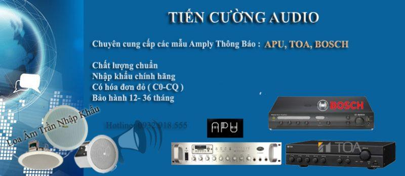 Tiến Cường Audio chuyên cung cấp các mẫu amply thông báo, loa âm trần tốt nhất hiện nay