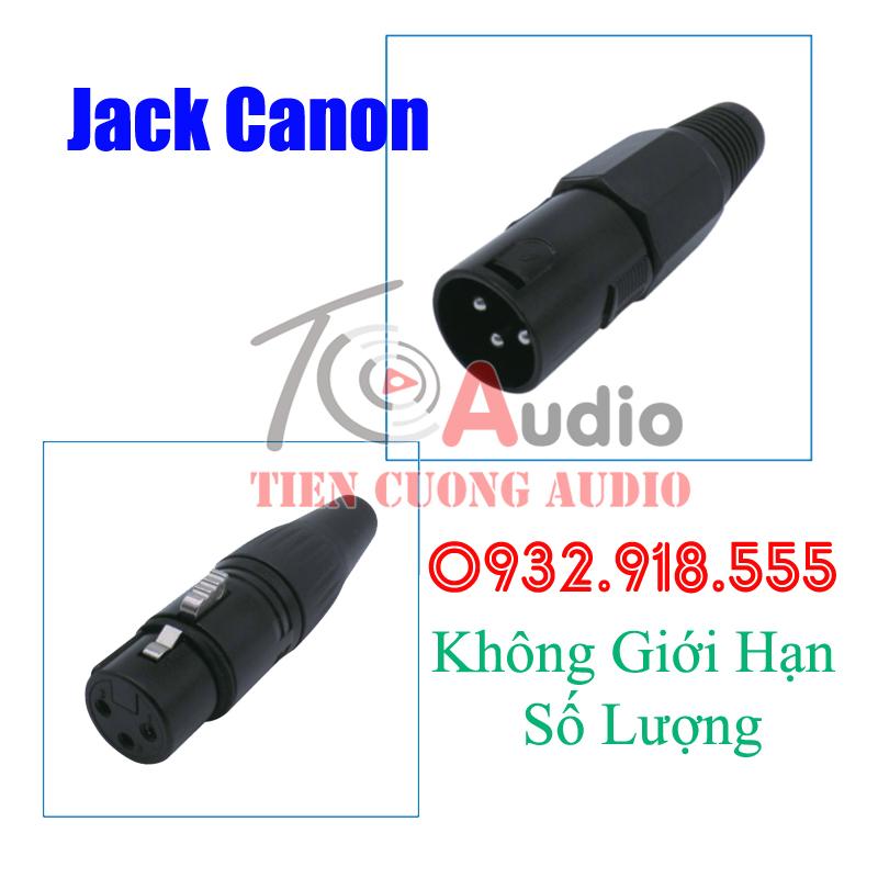 Jack hàn Canon Đực – Cái hàng cao cấp chất lượng