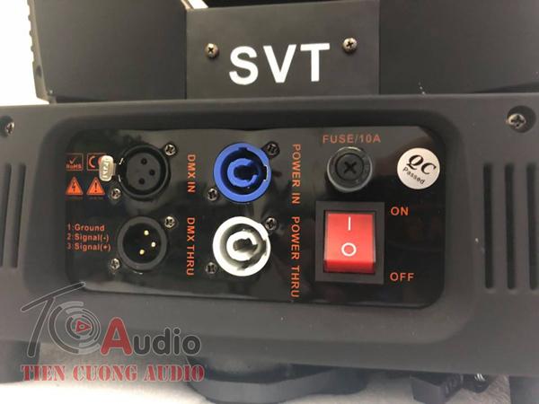 Đèn Beam 260 Plus SVT jack kết nối tín hiệu và dây nguồn