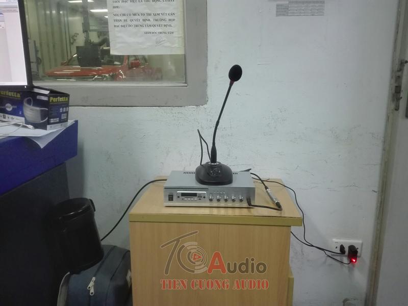 Micro thông báo để bàn APU MF1201 được lắp đặt tại công trình