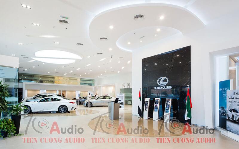 Chuyên báo giá, lắp đặt thi công âm thanh cho showroom ô tô chuyên nghiệp