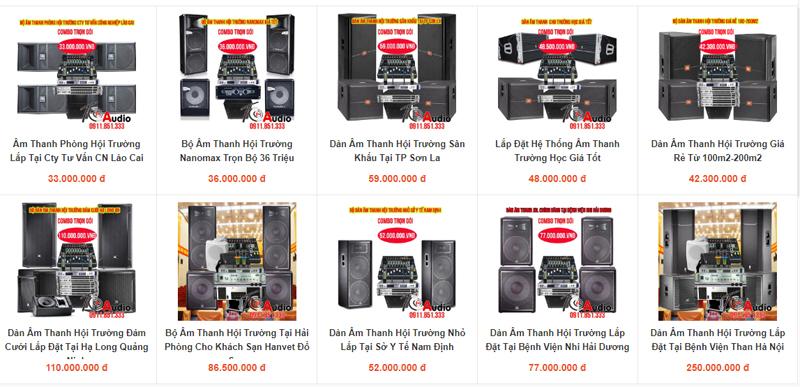 Một vài cấu hình âm thanh hội trường giá tầm trung bạn có thể chọn lựa