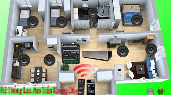Hệ thống loa âm trần không dây hiện đại nhất hiện nay
