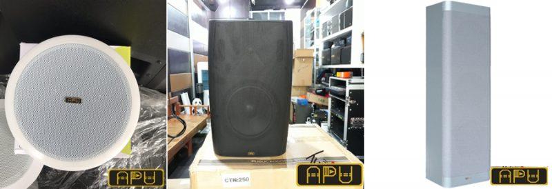 Các mẫu loa hộp - Loa âm trần- Loa cột thương hiệu APU cao cấp chuyên dùng cho phòng họp