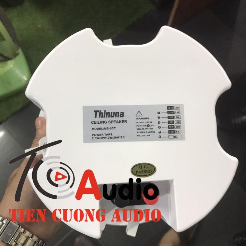 Thông số kỹ thuật loa âm trần 5CT