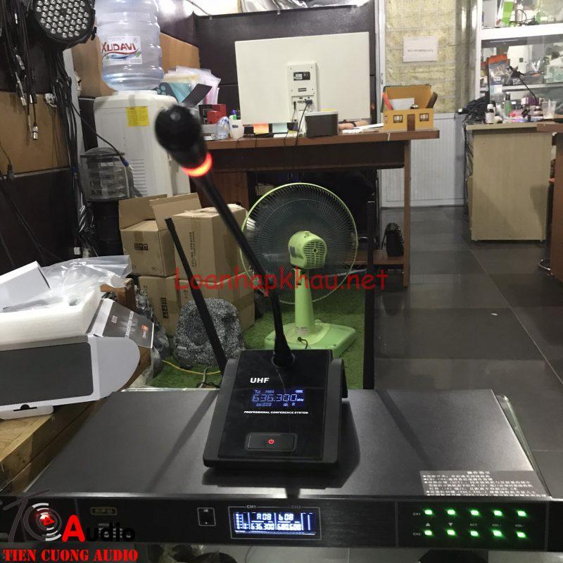 HÌnh ảnh thực tế hệ thống micro cổ ngỗng không dây apu mw285