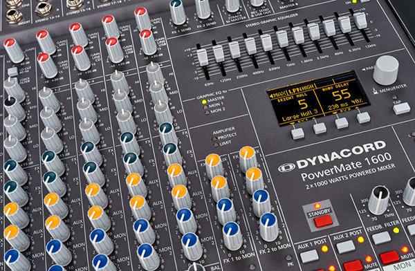 Các nút chỉnh trên mixer dễ chỉnh mang lại hiệu quả cao