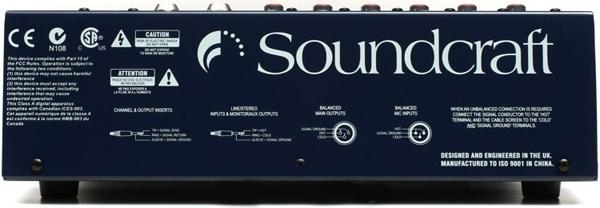 Mặt sau của mixer soundcraft