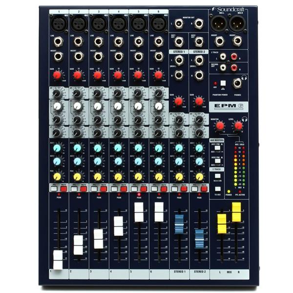Mixer với thiết kế 6 line kết nối thiết bị