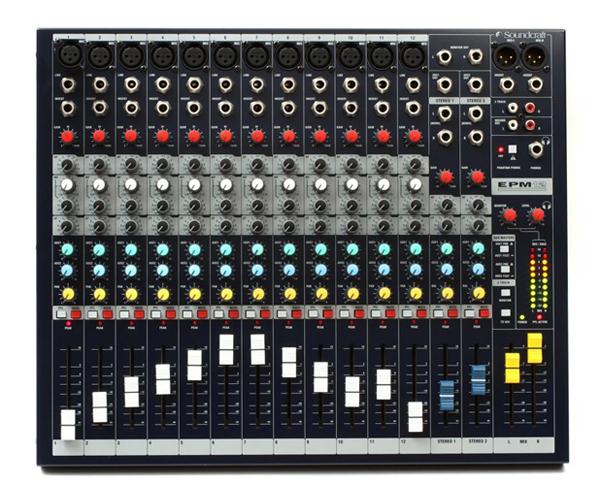 Các nút điều khiển của mixer thiết kế đơn giản dễ sử dụng