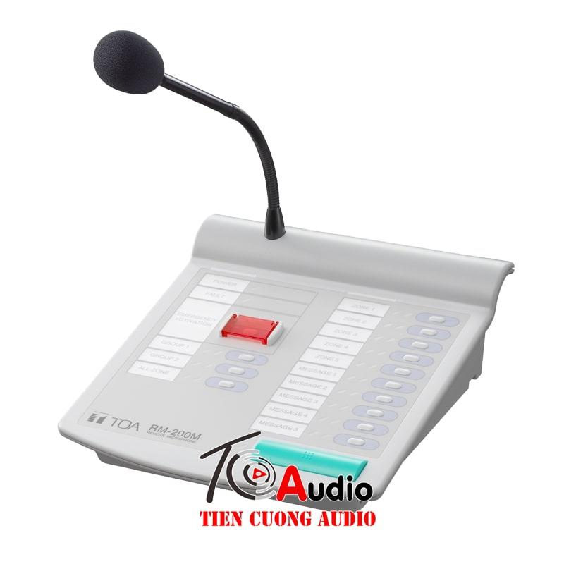 Micro Toa RM-200M chọn 10 vùng thông báo riêng biệt